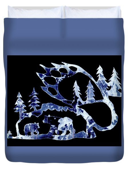 Ice Bears 1 Duvet Cover by Larry Campbell