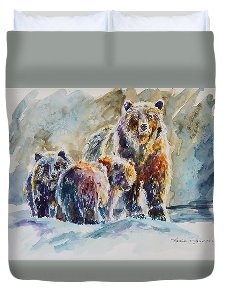 Ice Bears Duvet Cover