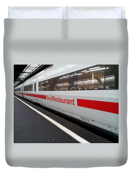 Ice Bord Restaurant At Zurich Mainstation Duvet Cover