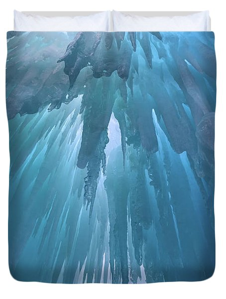 Duvet Cover featuring the photograph Ice Cavern by Rick Berk