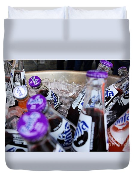 Duvet Cover featuring the photograph Ice Cold Drinks by John S