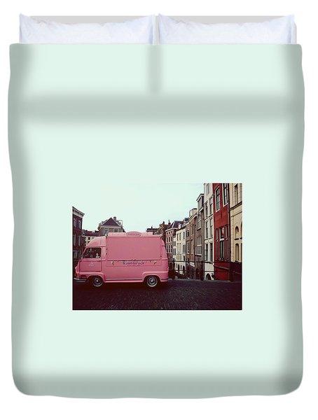 Ice Cream Car Duvet Cover