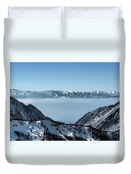 Duvet Cover featuring the photograph Ice Cream Castles by Jim Hill