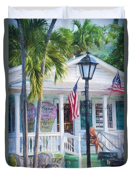 Ice Cream In Key West Duvet Cover