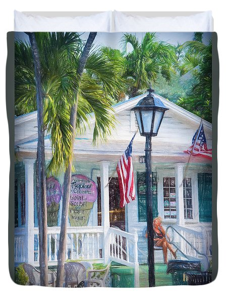 Ice Cream In Key West Duvet Cover