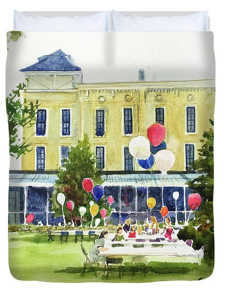 Ice Cream Social And Strawberry Festival, Lakeside, Oh Duvet Cover