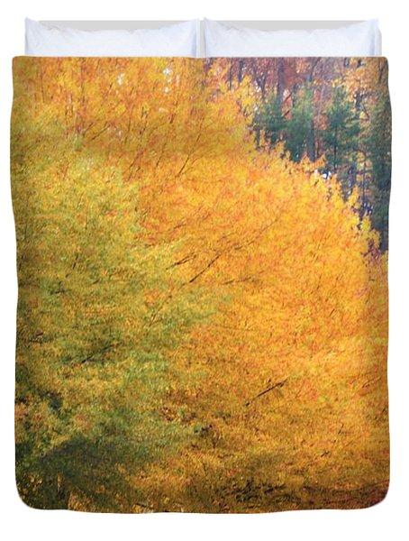 October Trees Duvet Cover