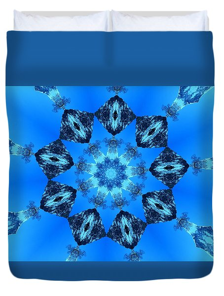 Ice Cristals Duvet Cover