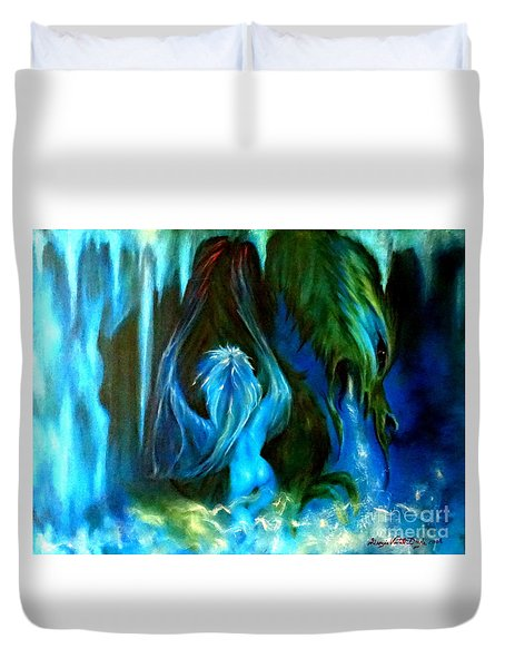 Dance Of The Winged Being Duvet Cover