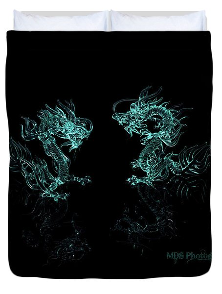 Ice Dragons Duvet Cover by Chad Hamilton