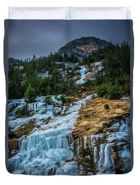 Ice Fall Duvet Cover