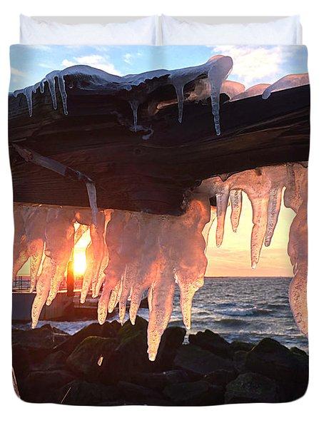 Ice Fangs Duvet Cover