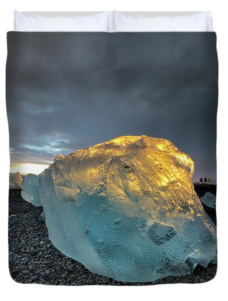 Duvet Cover featuring the photograph Ice Fish by Allen Biedrzycki