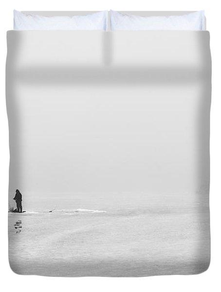 Ice Fishermen Duvet Cover