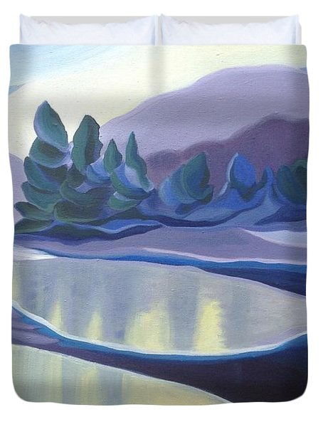Ice Floes Duvet Cover