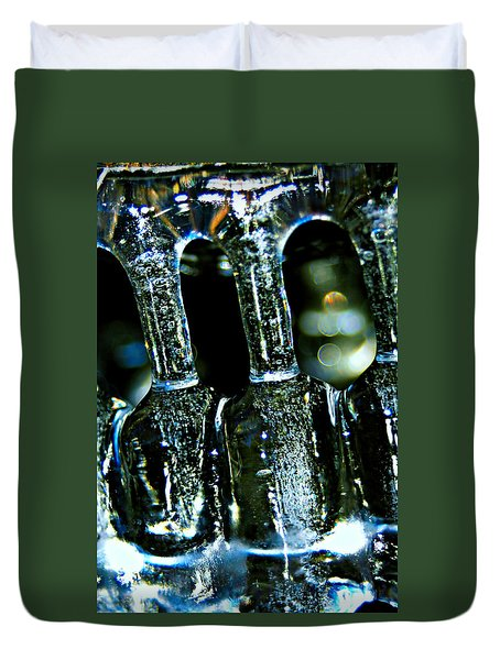 Ice Formation 02 Duvet Cover