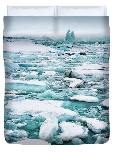 Duvet Cover featuring the photograph Ice Galore In The Jokulsarlon Glacier Lagoon Iceland by Matthias Hauser