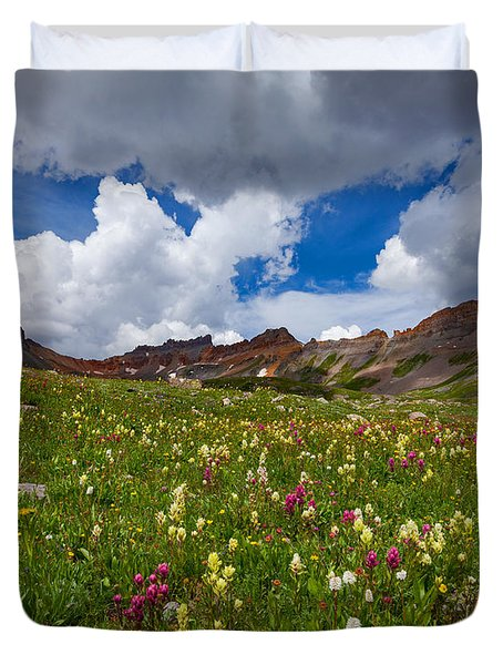 Ice Lake Meadow Duvet Cover
