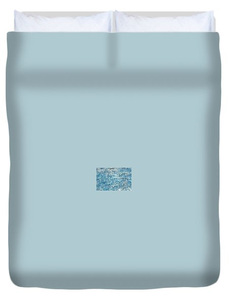 Duvet Cover featuring the painting Ice Melt  # 22617 by Robert Anderson