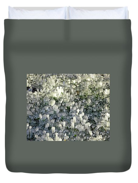 Ice On The Lawn Duvet Cover