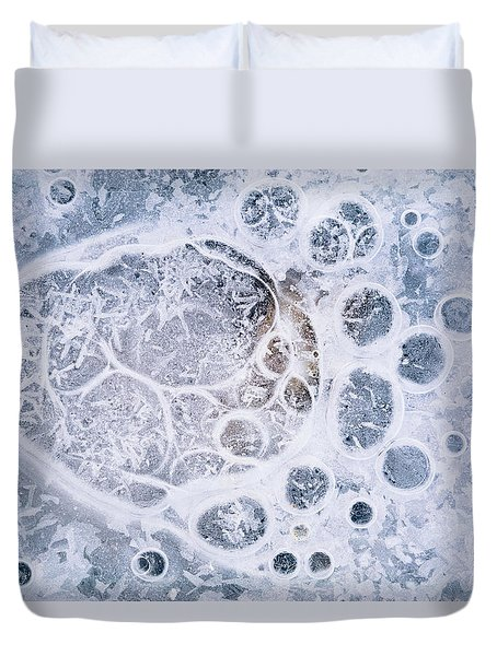 Ice Pattern One Duvet Cover by Davorin Mance