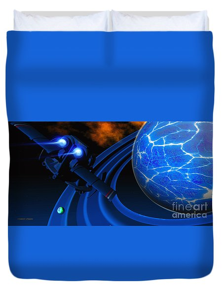 Ice Planet Duvet Cover by Corey Ford