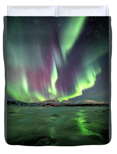 Ice Reflection II Duvet Cover