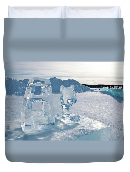 Ice Sculpture Duvet Cover