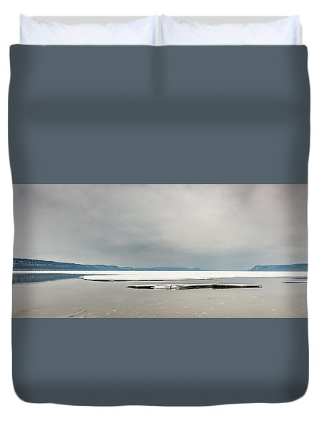 Duvet Cover featuring the photograph Ice Sheet by Dan Traun