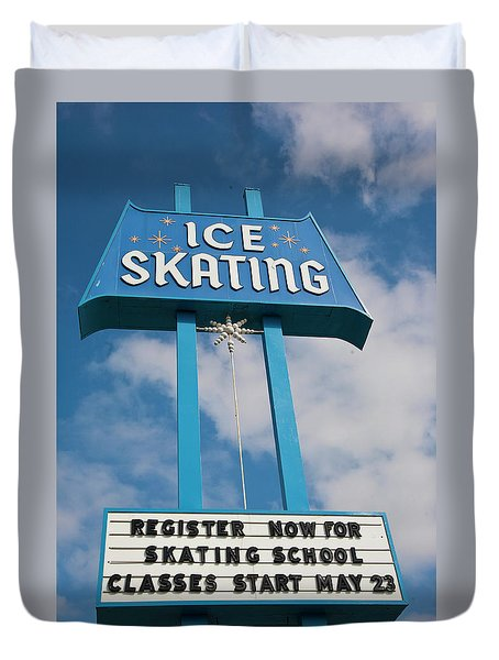 Duvet Cover featuring the photograph Ice Skating 2 by Matthew Bamberg