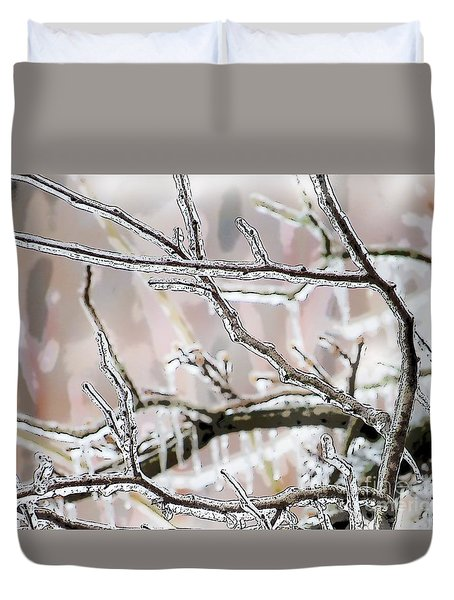Ice Storm Ice Duvet Cover by Craig Walters