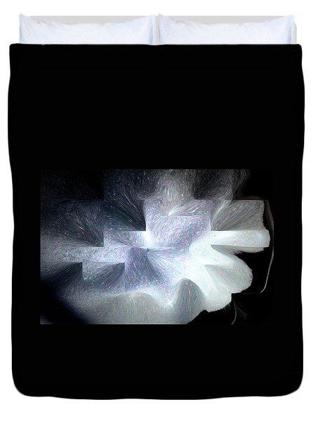 Ice Throne Abstract Duvet Cover by Aliceann Carlton