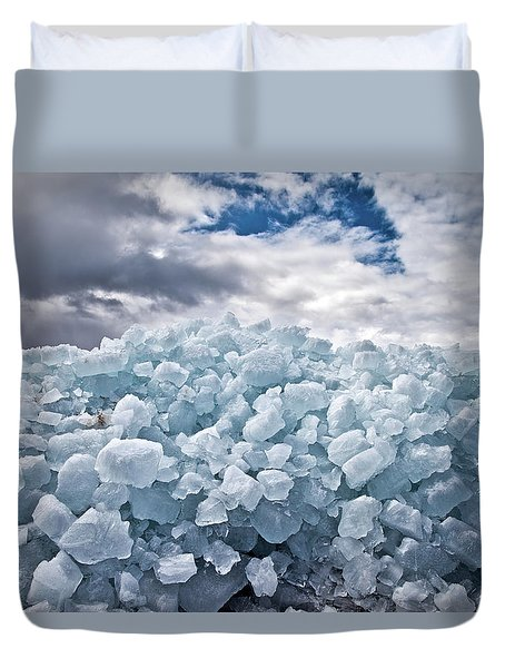 Ice Wall Duvet Cover by Brian Boudreau
