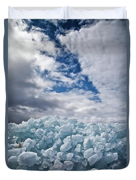 Ice Wall II Duvet Cover by Brian Boudreau
