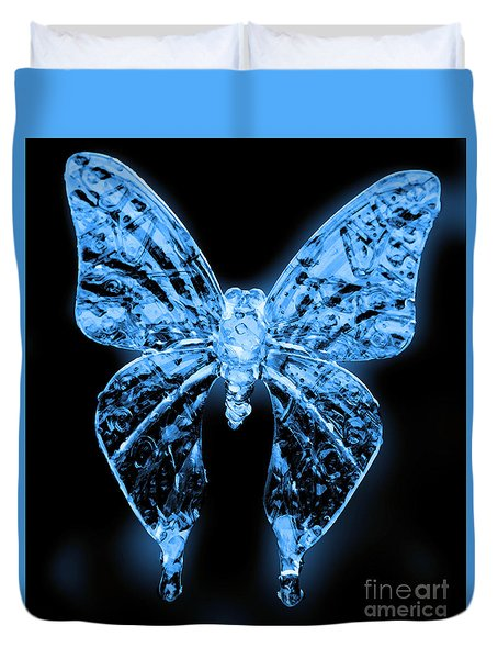 Ice Wing Butterfly Duvet Cover by Cassandra Buckley