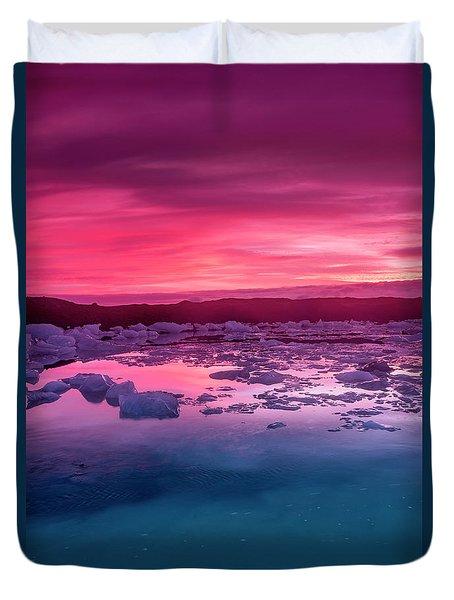Iceberg In Jokulsarlon Glacial Lagoon Duvet Cover