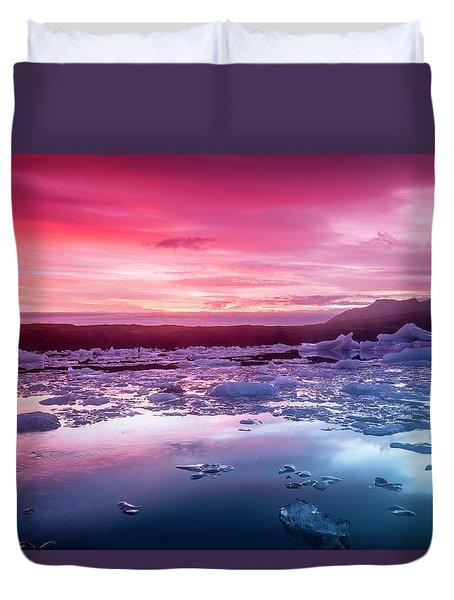 Icebergs In Jokulsarlon Glacial Lagoon Duvet Cover