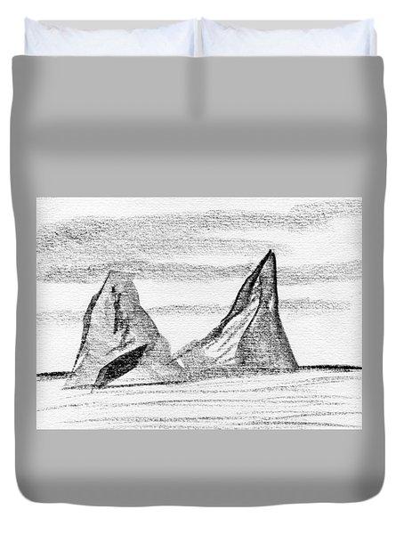 Icebergs Duvet Cover by R Kyllo