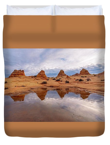 Duvet Cover featuring the photograph Ice Capades by Dustin  LeFevre