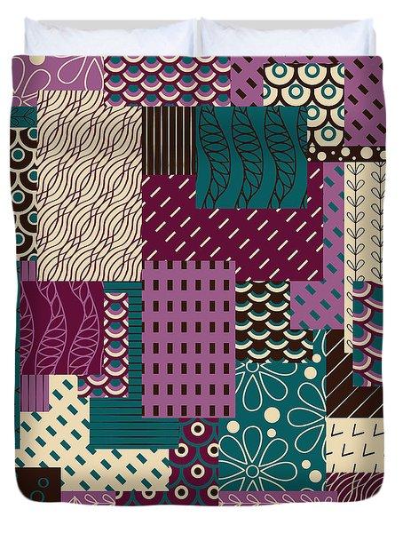 Blueberry Ice Cream Pattern Duvet Cover by Veronica Kusjen