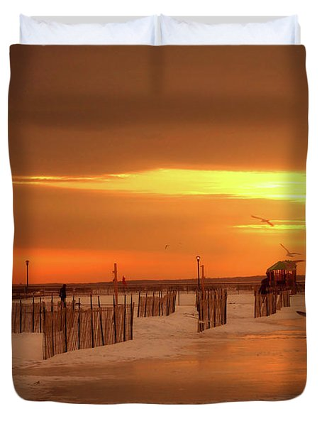 Iced Sunset Duvet Cover