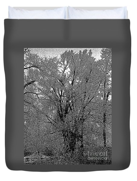Iced Tree Duvet Cover by Craig Walters