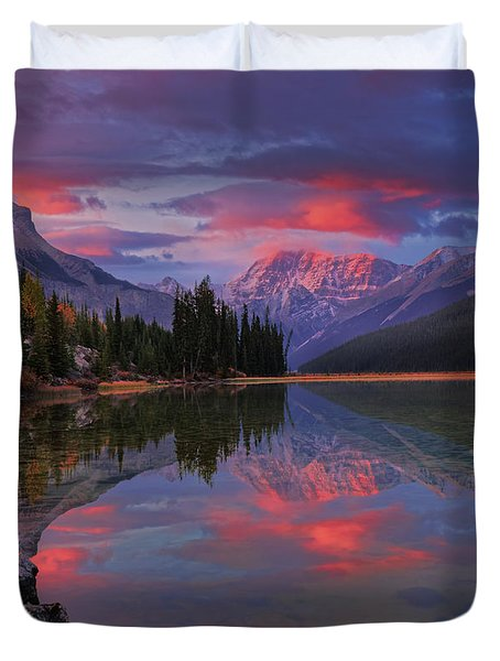 Icefields Parkway Autumn Morning Duvet Cover