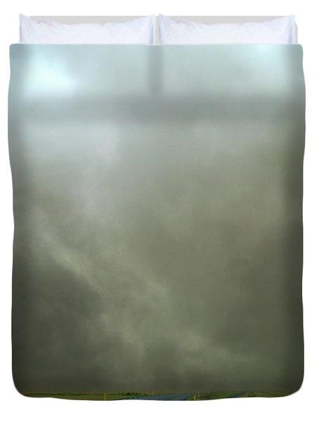 Iceland Dust Storm Reynisfjara Duvet Cover