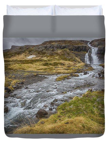 Iceland Fjord Duvet Cover