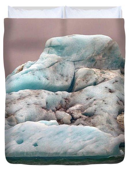 Iceland Glacier Lagoon Duvet Cover