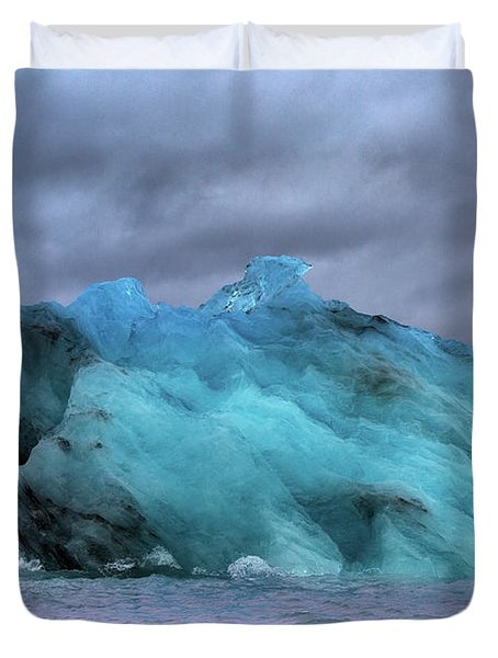 Iceland Ocean Blue Ice Glaciers Duvet Cover