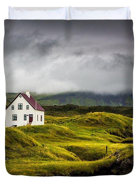 Iceland Scene Duvet Cover