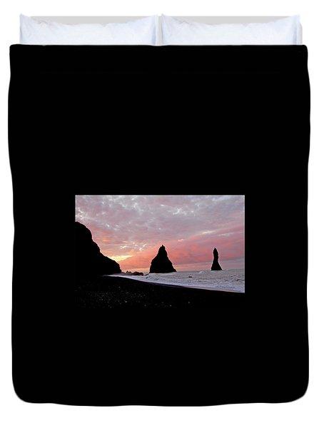 Iceland Sunrise Duvet Cover