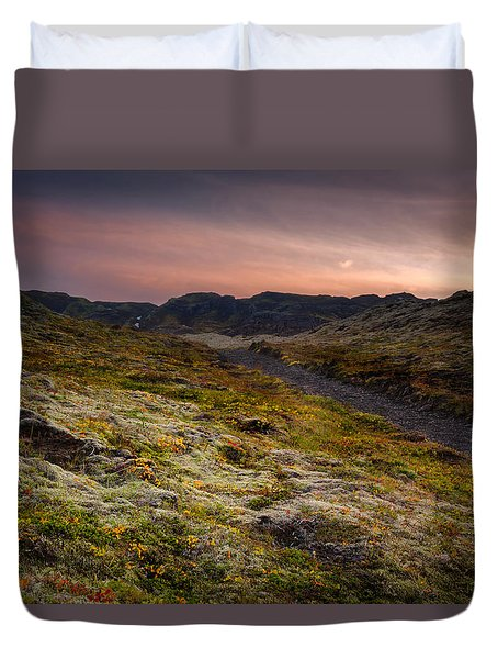 Iceland Sunset Duvet Cover by Chris McKenna